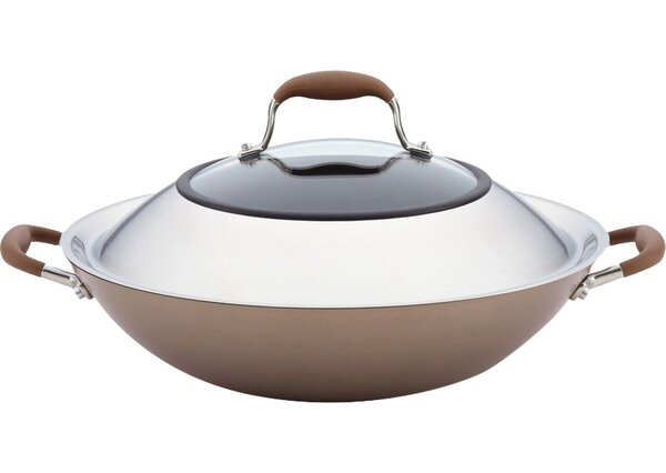 14 Non-Stick Aluminum Wok with Lid by Anolon