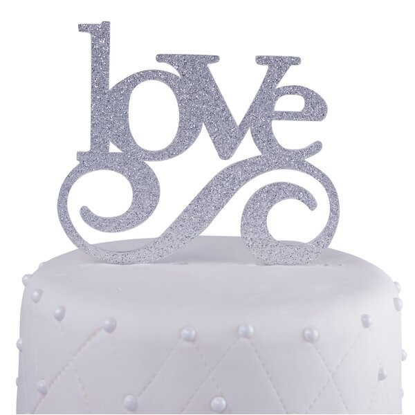 Love Acrylic Wedding Cake Topper by Unik Occasions