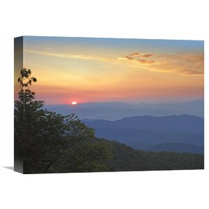 Nature Photographs Sunset over The Pisgah National Forest from The Blue Ridge Parkway, North Carolina Photographic Pr... by Global Gallery