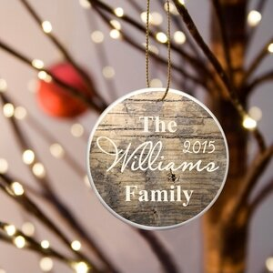 Family Name Rustic Ornament