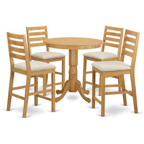 Jackson 5 Piece Counter Height Pub Table Set By Wooden Importers 2019 Coupon
