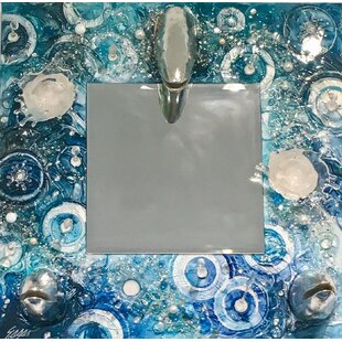 Rosecliff Heights Gatewood Ocean Wave and Mackeral Fish Head Accent Mirror