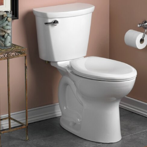 Cadet 1.28 GPF Elongated Two-Piece Toilet by American Standard