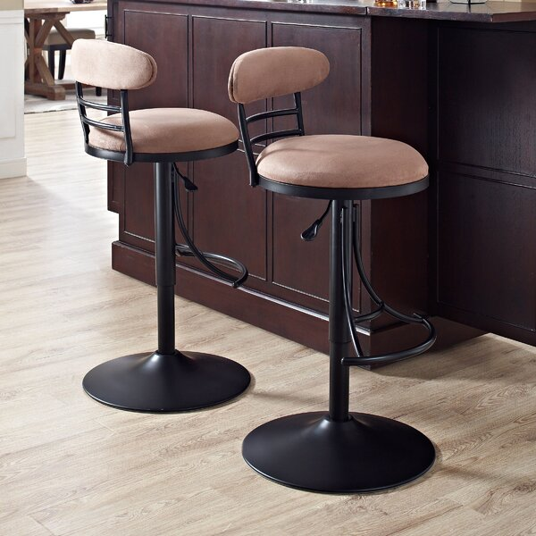 Rockmill Adjustable Height Swivel Bar Stool by Red Barrel Studio