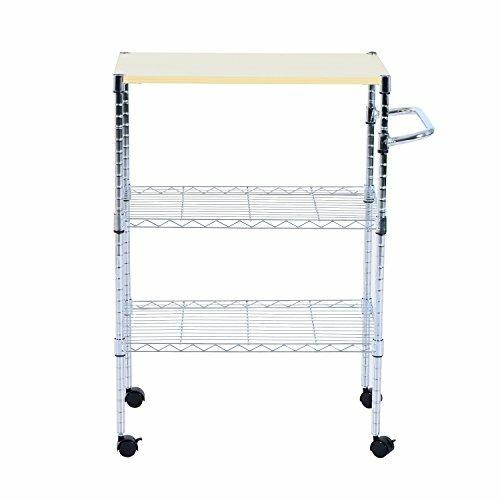 Mccubbin Portable Rolling Wire Shelf Bar Cart by E