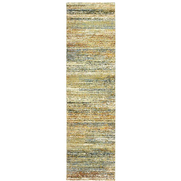 Bobby Gold/Green Area Rug by Winston Porter