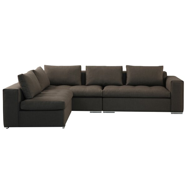 Odalis Left Hand Facing Modular Sectional by Orren Ellis Orren Ellis