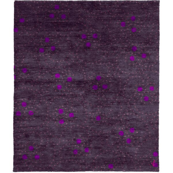 One-of-a-Kind Amaia Hand-Knotted Traditional Style Purple 9' x 12' Area Rug