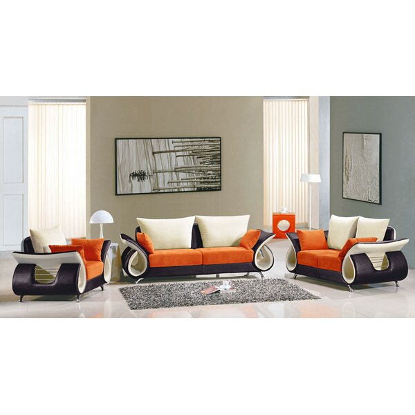Boltz 3 Piece Living Room Set by Orren Ellis