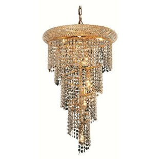 Compare Mathilde 8-Light Crystal Pendant By Everly Quinn