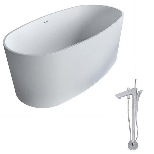 Roccia 61.4 x 31.2 Freestanding Soaking Bathtub by ANZZI