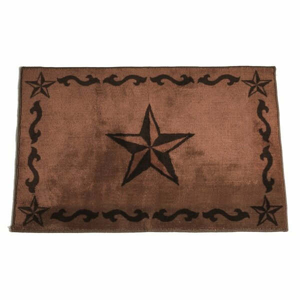 Cahto Star Print Bath Rug