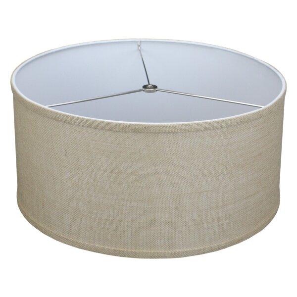8 H x 17 W Linen Drum Lamp Shade ( Spider )