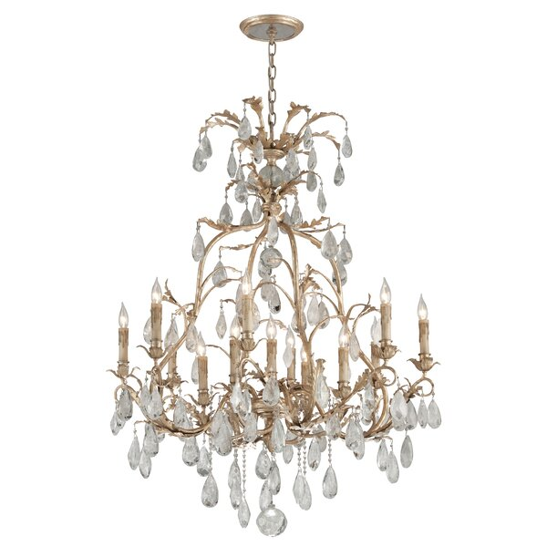 Lawhon 13 - Light Candle Style Tiered Chandelier by Rosdorf Park Rosdorf Park