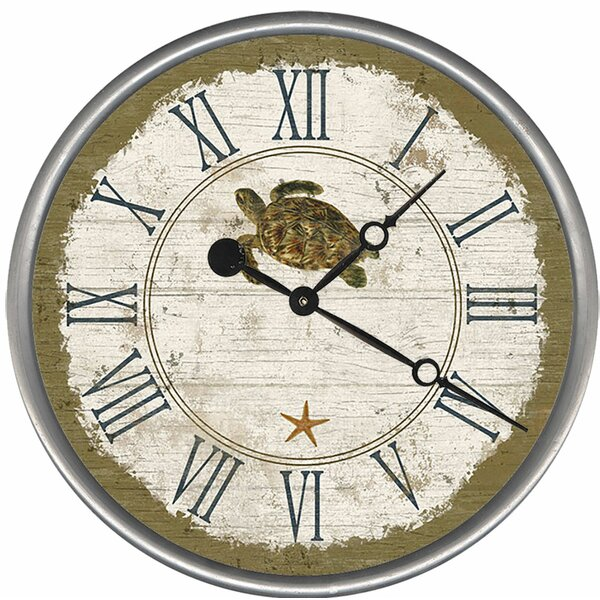Sea Turtle Wall Clock by Red Horse Arts