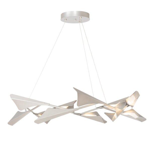 Plume 12 - Light Unique Geometric LED Chandelier by Hubbardton Forge Hubbardton Forge