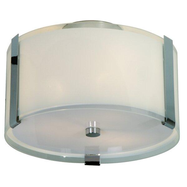 Mcelfresh 2-Light Flush Mount by Ebern Designs