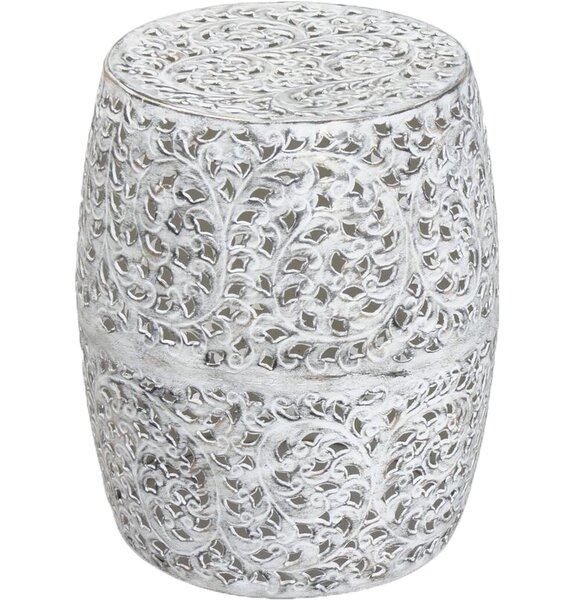 Railsback Accent Stool by Bungalow Rose