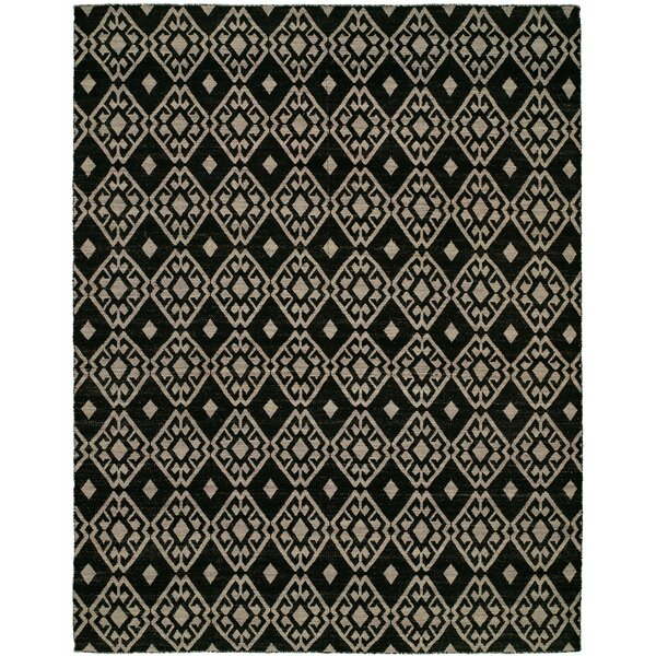 Folsom Handmade Black/Lilac Area Rug by The Conestoga Trading Co.