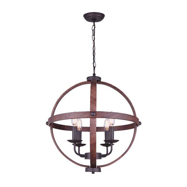 Colrain 4 - Light Unique / Statement Globe Chandelier By Gracie Oaks
