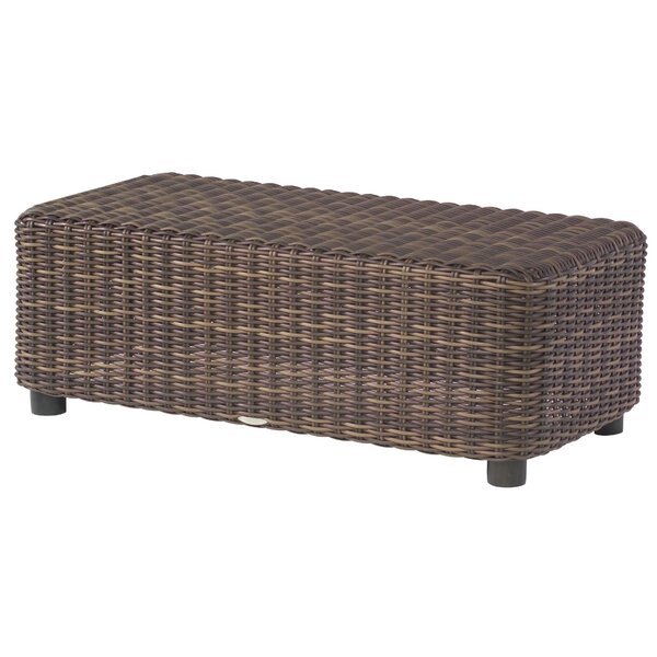 Sonoma Wicker Coffee Table by Woodard
