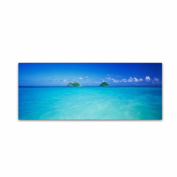 Twin Islands, Oahu by David Evans Photographic Print on Wrapped Canvas by Trademark Fine Art