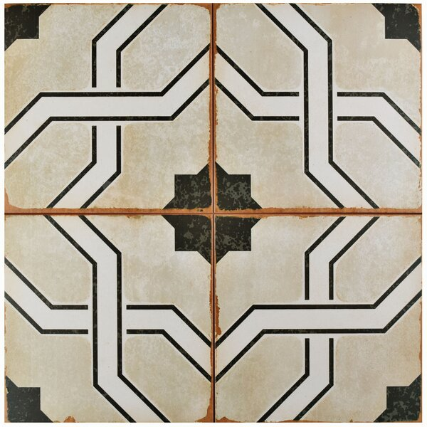 Iberia 17.63 x 17.63 Ceramic Field Tile in Beige/Black by EliteTile