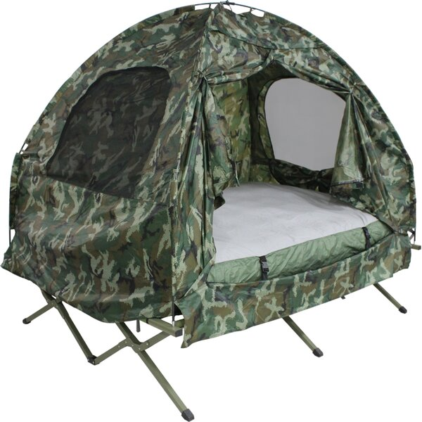 Camo Camp Bed 2 Person Tent by Dura Soleil
