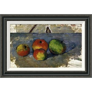 'Four Apples' by Paul Cezanne Framed Painting Print by Global Gallery