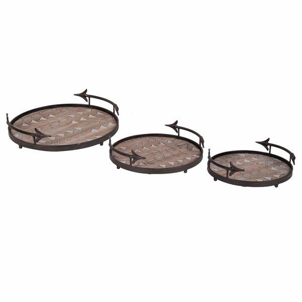 Nesting Arrow 3 Piece Serving Tray Set by Foreside Home & Garden