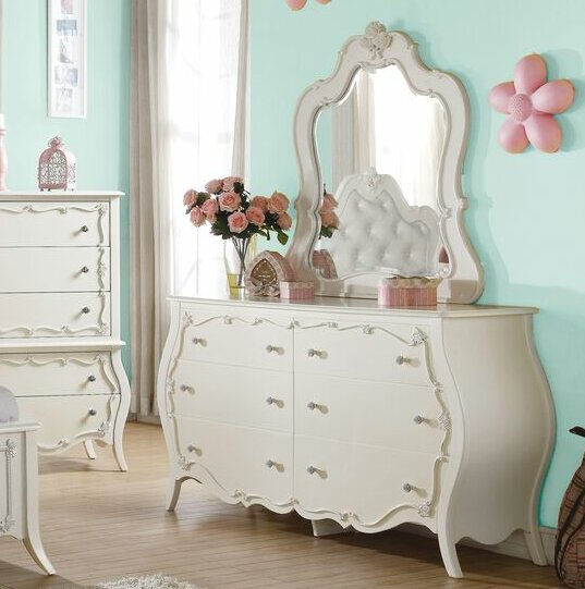 Eddins 6 Drawer  Bachelors Chest with Mirror by Harriet Bee