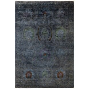 Compare One-of-a-Kind Vibrance Hand-Knotted Black Area Rug By Darya Rugs