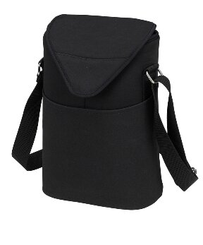 Neo Two Bottle Tote in Black by Picnic at Ascot