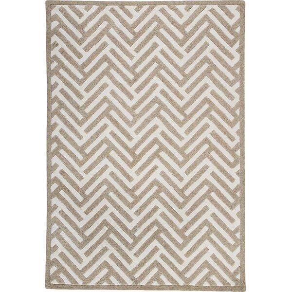 Tracks White/Ivory Area Rug by Hokku Designs