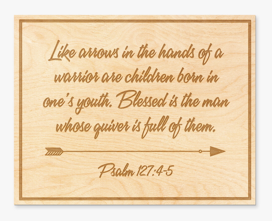 Winston Porter Blessed Is the Man Engraved Wood Sign Wall Décor ...