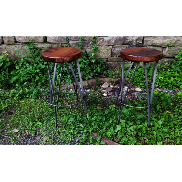 Vintage Ice Cream Parlour Bar & Counter Stool (Set Of 4) By The Strong Oaks Woodshop