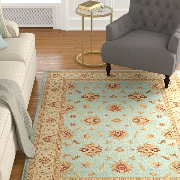 Silvera Blue & Ivory Persian Area Rug by Charlton Home