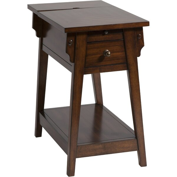 Amboyer Chairside Table in Dark Honey by Darby Home Co
