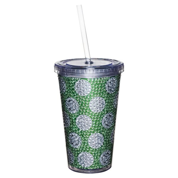 Gina 17 oz. Plastic Travel Tumbler by Evergreen Flag & Garden