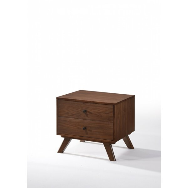 Dunouragan Century 2 Drawer Nightstand by Corrigan Studio