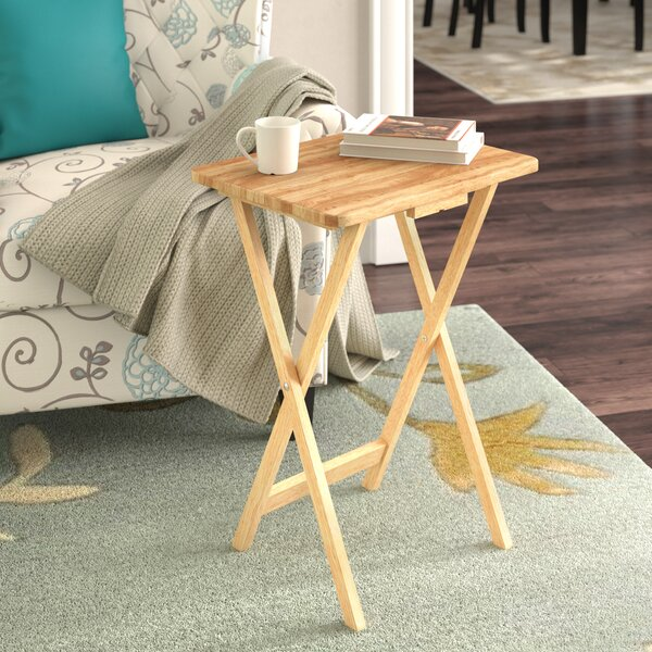 Anthem Folding TV Tray Table with Stand (Set of 4) by Red Barrel Studio