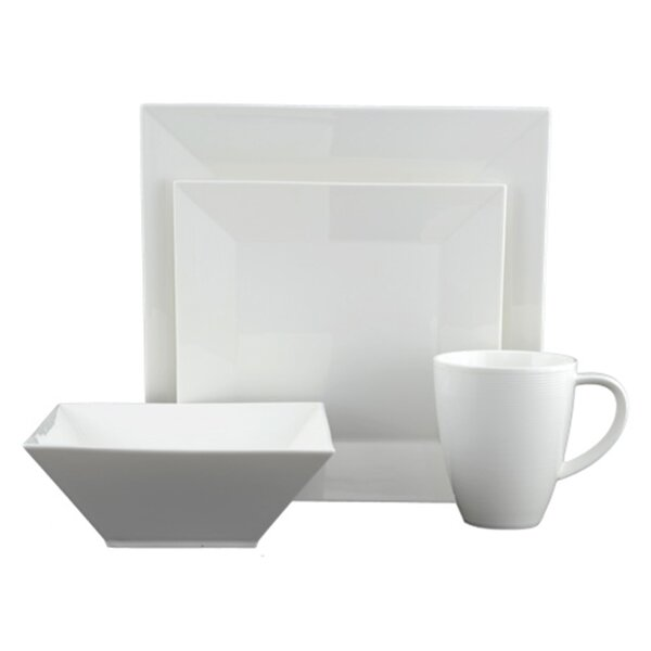 Heston Square 16 Piece Dinnerware Set by Tannex