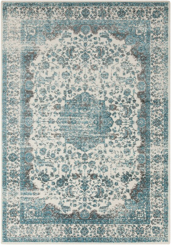 Astoria Grand Barlett Medium Gray Teal Area Rug Amp Reviews