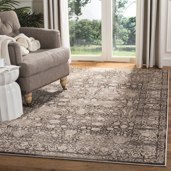 Watts Brown/Cream Area Rug by World Menagerie
