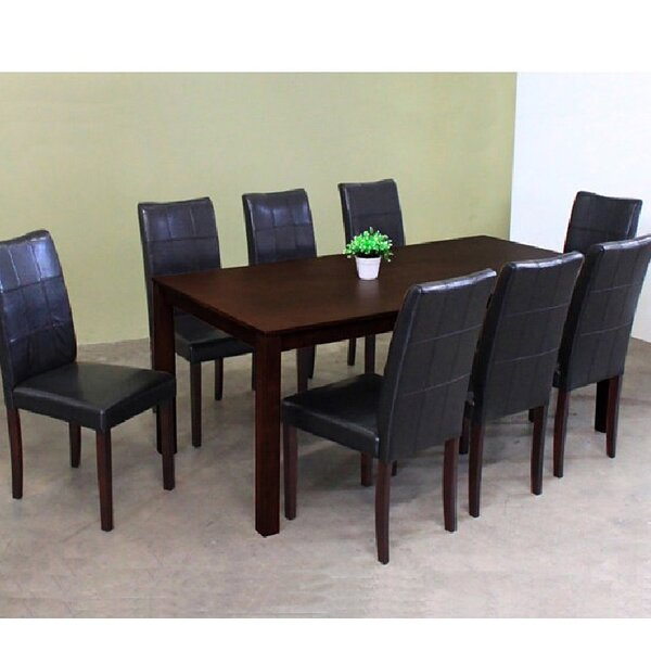 Etelvina 9 Piece Solid Wood Dining Set by Red Barrel Studio