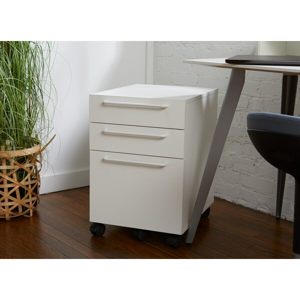 Alaida Albin 4-Drawer Mobile Vertical Filing Cabinet