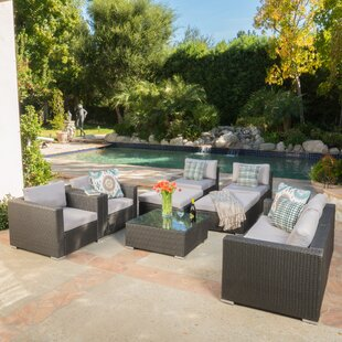 Benbow 8 Piece Sofa Set with Cushions ByMercury Row