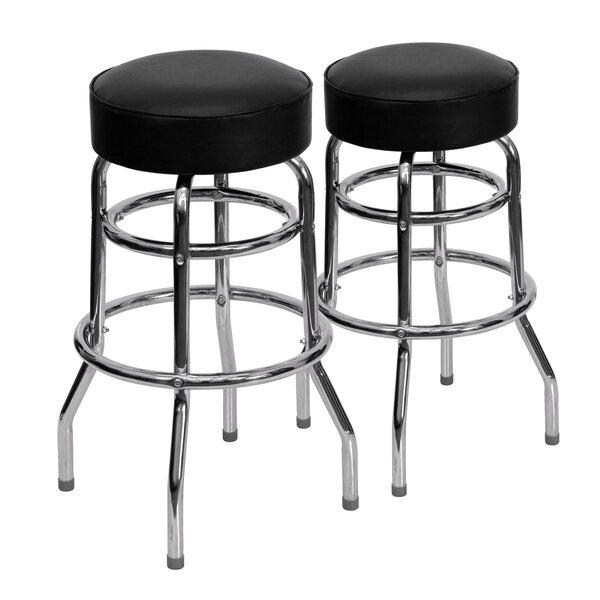 King 30 Swivel Bar Stool (Set of 2) by Ebern Designs