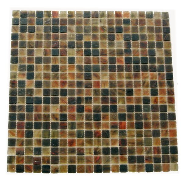 Amber 0.63 x 0.63 Glass Mosaic Tile in Brown Mix by Abolos
