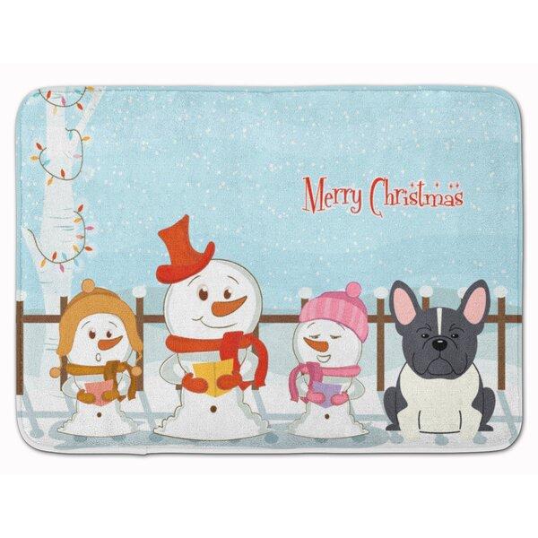 Christmas French Bulldog Memory Foam Bath Rug by The Holiday Aisle